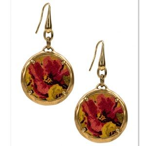 Patricia Nash Elena Leather Inset Earrings